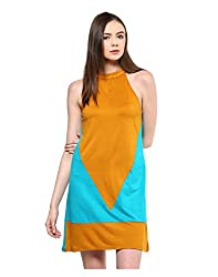 Yepme Women's Yellow Polyester Dresses - YPMDRES0214_M