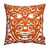 notNeutral Triton 1 Throw Pillow - Persimmon/White