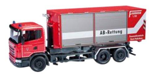 Herpa-090360-Scania-R-Abrollcontainer-LKW-Feuerwehr-Paderborn