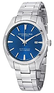 Stuhrling Original Men's 414.33116AM Classic Ascot Prime Stainless Steel Bracelet Watch with Blue Dial