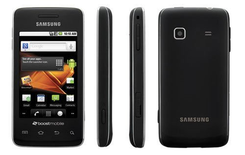 SAMSUNG-SPH-M820-GALAXY-PREVAIL-BLACK-CELLPHONE-BOOST-MOBILE-TOUCH-SCREEN