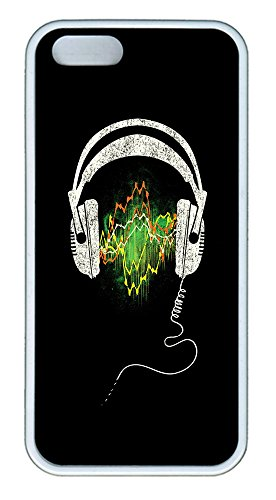 Iphone 5 5S Case Headphones Tpu Custom Iphone 5 5S Case Cover White
