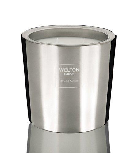 WELTON LONDON ウェルトンロンドン METALLIC COLLECTION フレグランスキャンドル900g Secret Amber