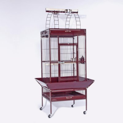 Cheap Wrought Iron Small Parrot Cage (3152RED)