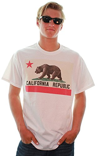 Old School California Bear Flag T-Shirt/Tee By Dsc-Lrg front-265181
