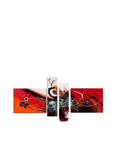 Arte dal Mondo Set Panel Decorativo 4 Piezas Edgar Ramirez