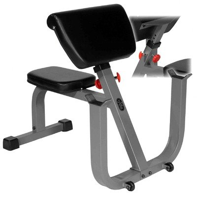 Xmark Fitness Seated Preacher Curl Weight Bench