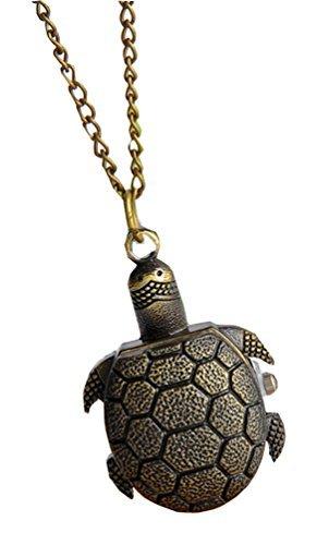Meta-U Vintage Style Tortoise Pocket Watch