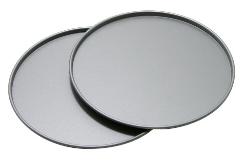 OvenStuff Non-Stick Personal Size Pizza Pan, Set of Two (Personal Pizza Pan compare prices)