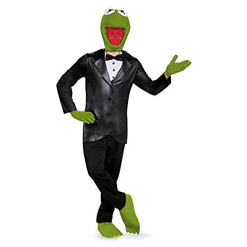 Disguise Men's Kermit Deluxe Adult Costume