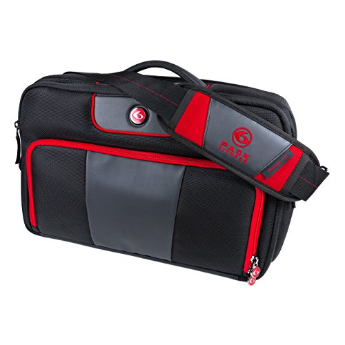 6 Pack Fitness Executive Briefcase With Insulated Meal Management System, Black/Red, (300-3 Meals)