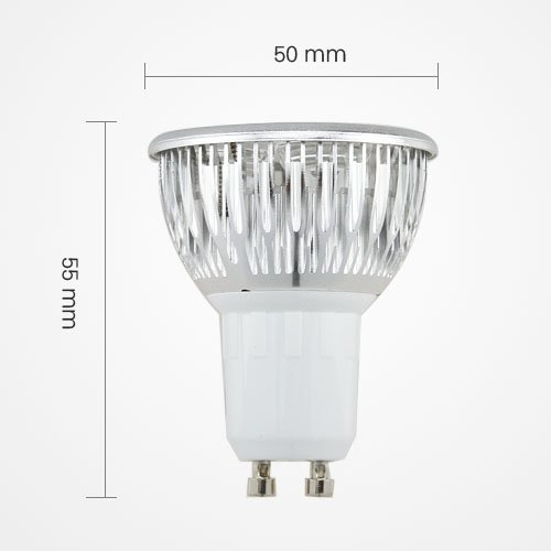 Led Gu10 3W 3X1W Energy Saving Spotlight Lamp Bulb Ac 110V Cool White Equivalent To 50W Traditional Bulb By Goodscity