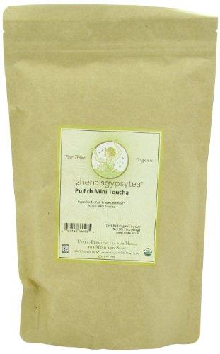 Zhena'S Gypsy Tea Pu-Erh Mini Tou-Cha Organic Loose Tea, 16-Ounce Bag