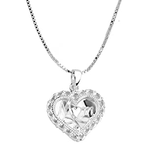 "Sterling Silver ""Mom, A Mother"