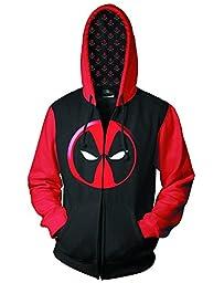 Official Deadpool Logo Previews Exclusive Men\'s Zip-Up Hoodie (XXL)