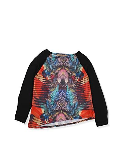 Manila Grace Sweatshirt schwarz/mehrfarbig