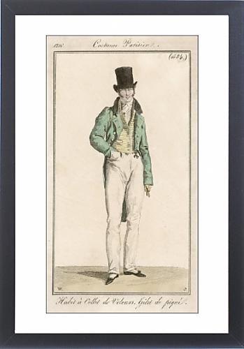 Framed Print Of Striped Waistcoat 1816
