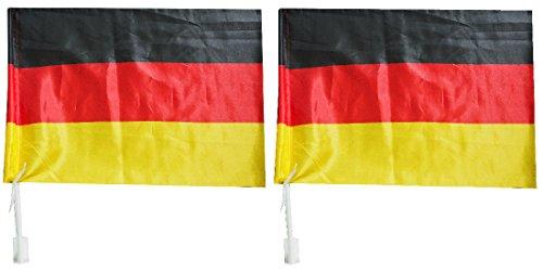 I veri fan mostrano i loro colori WM EM Auto Bandiera Auto Bandiera Germania ( singolo ) (SET 2)