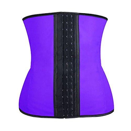 Sexy pancia girovita sottile nove acciaio Palazzo corpo corsetto abbigliamento collant di nylon , purple nine bone , xxxl