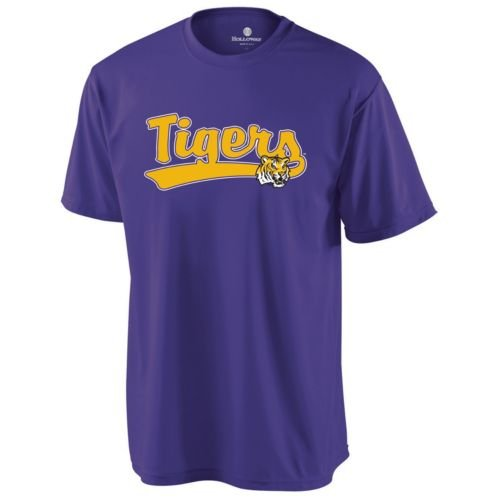 CREWNECK LSU TIGERS Dry Excel Wicking Tee YOUTH LARGE Licensed NCAA College Replica Jersey at Amazon.com
