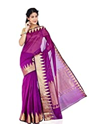 Kuberan Women's Party Wear Cotton Saree ( Magenta )