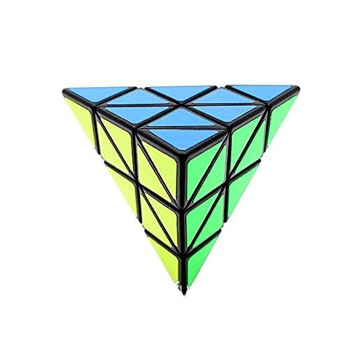 V5-Space Shengshou Pyraminx torcedura Puzzle Cube,Negro