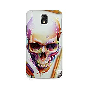Mobicture Skull Abstract Premium Printed Case For Samsung Note 3 N9006