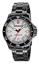 Wenger Sea Force Watch, Pvd Case Grey Dial Pvd Bracelet 641.107
