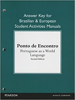 Brazilian and European Student Activities Manual Answer Key for Ponto