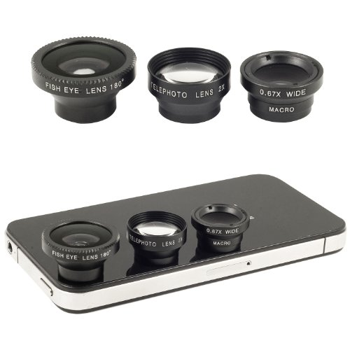 Fish Eye + Wide Micro+ Telephoto Lens for Samsung Galaxy S3 SIII GT-i9300 DC266B