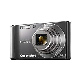Sony DSC-W370 Cyber-Shot 14.1 MP Digital Camera with 7x Optical Zoom (Black)