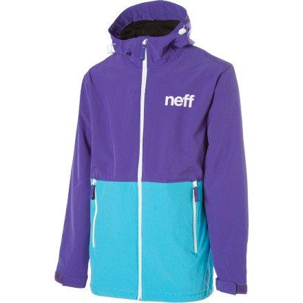 Neff Daily Softshell Jacket - Men's Purple/Teal, XXL