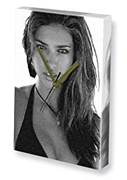 ADRIANA LIMA - Canvas Clock (A4 - Signed by the Artist) #js001
