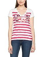 LIUJO Camiseta Manga Corta (Blanco / Rojo)