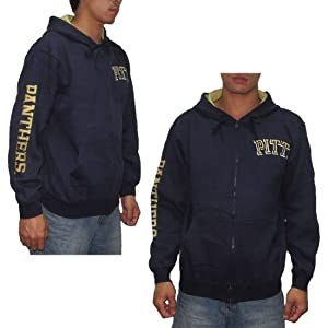 NCAA PITTSBURGH PANTHERS MENS Athletic Zip-Up Hoodie Sweatshirt Jacket by NCAA