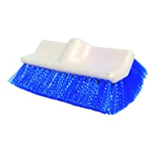"Proline Brushes 3410 Polypropylene Dual-Surf Scrub Brush with Plastic Handle, 3-1/4"" Head Width, 10"" Overall Length, White"