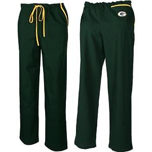 Scrub Dudz Green Bay Packers Scrub Pants Extra Large