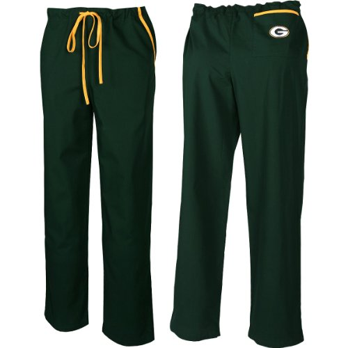 Scrub Dudz Green Bay Packers Scrub Pants Extra Large