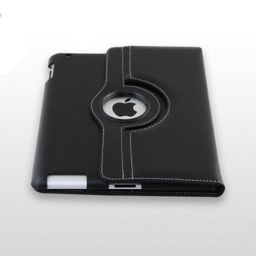 Kiwi Cases iPad 2 Genunine Leather Case with Stand - 100% Real Cowhide Leather TOP GRAIN