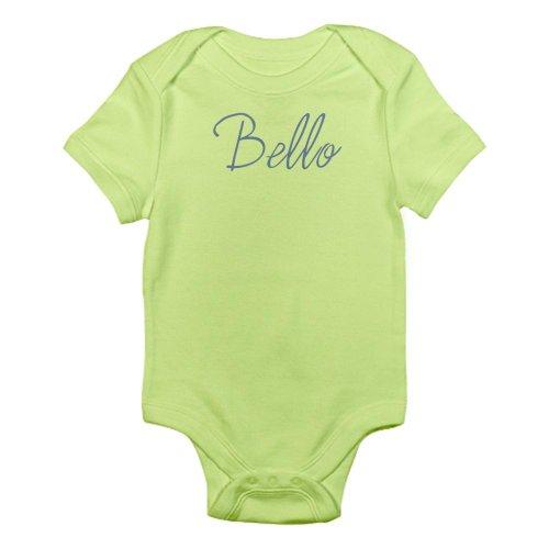 Cafepress Bello Italian For Handsome Infant Onesie Infant Bodysuit - 12-18M Kiwi