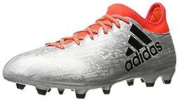 adidas Performance Men\'s X 16.3 FG Soccer Shoe, Silver Metallic/Black/Infrared, 9 M US