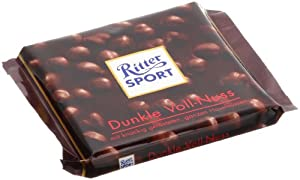 Ritter Sport Dark Chocolate with Hazelnuts -Pack of 3