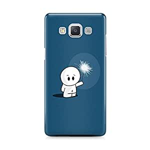 Motivatebox - Samsung Galaxy E5 Back Cover - Lonely and funny Polycarbonate 3D Hard case protective back cover. Premium Quality designer Printed 3D Matte finish hard case back cover.