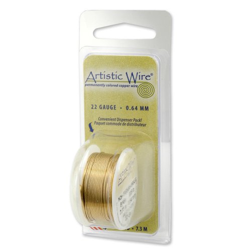 Artistic Wire 18-Gauge Non-Tarnish Brass Wire, 4-Yards