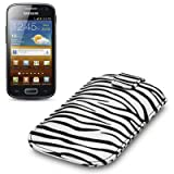 Samsung Galaxy Ace 2 Zebra Striped Premium PU Leather Case / Cover / Pouch Part Of The Qubits Accessories Rangeby Qubits