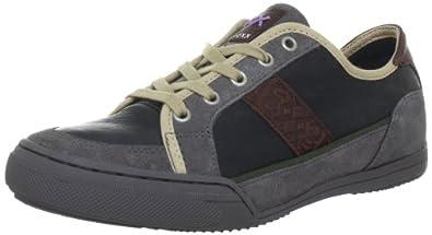 Mexx Paxton 1a Lthr Suede F7HMK008, Herren Fashion Sneakers, Schwarz (Black 1), EU 41