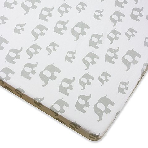 Wendy Bellissimo Mix & Match Elephant Fitted Crib Sheet in Grey (Regina Spektor Sheet Music compare prices)