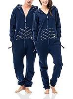 ZIPUPS Mono-Pijama Polkadots (Azul Noche)