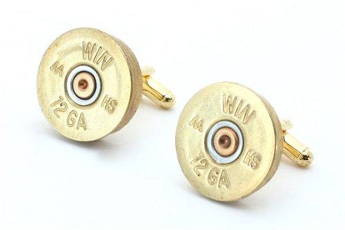 Winchester Brass 12 Gauge Shotgun Shell Cufflinks