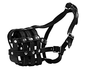 Dean and Tyler Leather Basket Muzzle, Size No. M - Bullmastiff